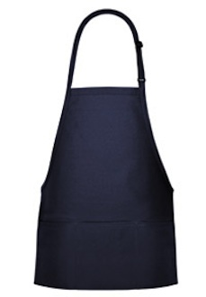 3-Pocket Bib Style Postal Apron in Navy or Royal