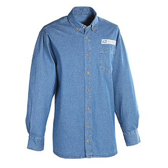 Postal Uniform Shirt Denim Long Sleeve for Mail Handlers and
